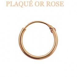 Faux piercing anneau 10mm or rose Naqe FAU015