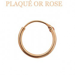 Faux piercing anneau 12mm or rose Naxy FAU015