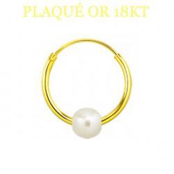 Faux piercing anneau 8mm plaqué or Faud FAU024