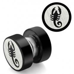 Faux piercing plug aimanté scorpion Cep FAU216