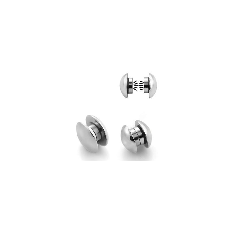 ventes spéciales trouver le travail styles de variété de 2019 Faux piercing plug 10mm aimanté acier