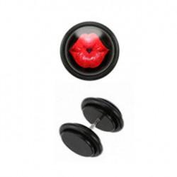 Faux piercing plug lèvres rouge Gys FAU227