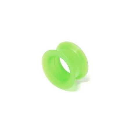 Piercing tunnel jaune vert 5mm Watta PLU029