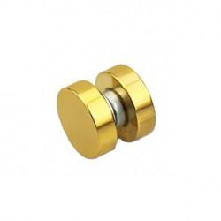Faux piercing plug 6mm aimanté doré Xyu FAU027