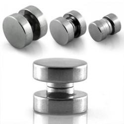 Faux piercing plug 8mm aimanté acier Kyol FAU033