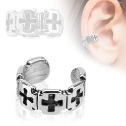 Faux piercing anneau avec croix Xaq FAU004
