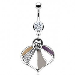 Piercing nombril coeur multicolor Xat NOM524