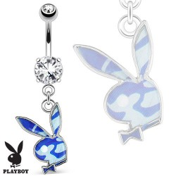 Piercing nombril play boy bleu camouflage