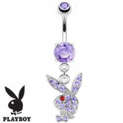 Piercing nombril playboy violet oeil rouge NOM536