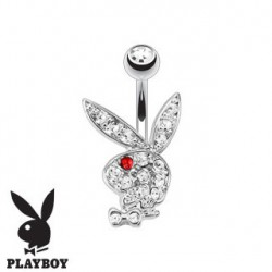 Piercing nombril banane playboy oeil rouge NOM537