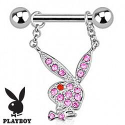 Piercing téton playboy cristal rose