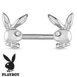 Piercing téton lapin playboy acier Xaz TET074