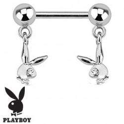 Piercing téton lapin playboy oeil blanc Xyt