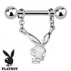 Piercing téton playboy avec oeil blanc Gady TET076