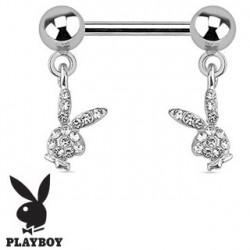 Piercing téton lapin playboy blanc Xol