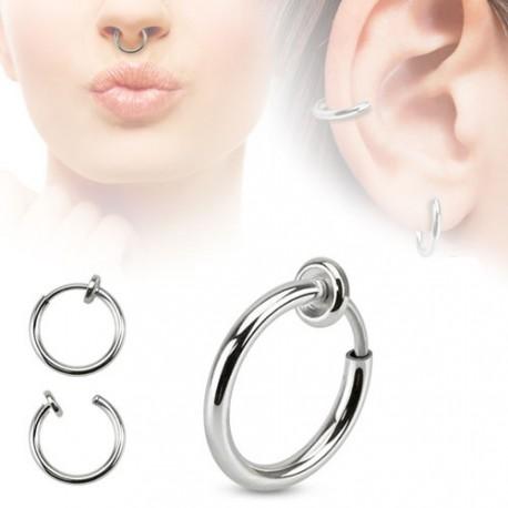 Faux piercing anneaux 10mm à clip Pok - 2,10 € 30b9d0f4ed8
