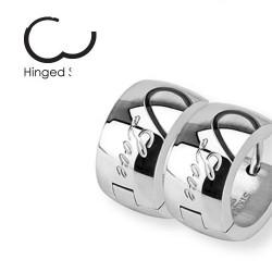 Anneau oreille en acier love largeur 7mm Cazy Bijoux8,85€