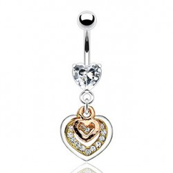 Piercing nombril triple coeur Jot NOM540