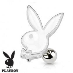 Piercing oreille tragus playboy blanc Faku TRA064