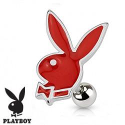 Piercing oreille tragus playboy rouge Fyu TRA064
