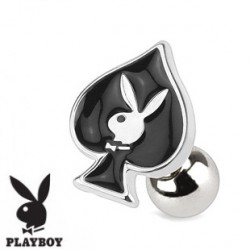 Piercing tragus playboy as de pique noir Feko TRA065