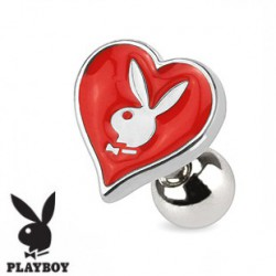 Piercing tragus playboy as de coeur rouge Fyp TRA065