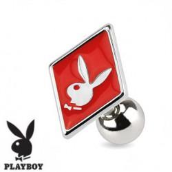 Piercing tragus playboy as de carré rouge Fyju TRA065