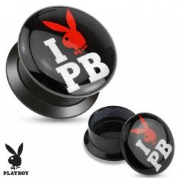 Piercing plug 8mm I love playboy Moz PLU116