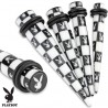 Piercing écarteur 4mm acrylique playboy Kol COR071