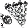 Piercing écarteur 6mm acrylique playboy Kaz COR071