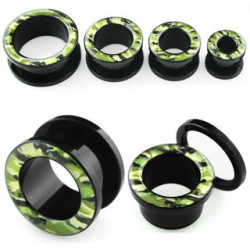 Piercing tunnel camouflage 22mm Warin PLU031