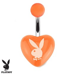 Piercing nombril cœur playboy orange en acrylique Kypu Piercing nombril3,90 €