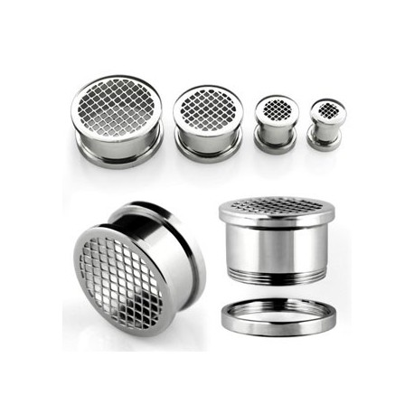 Piercing tunnel grille 6mm Xucha