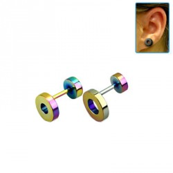 Faux piercing d'oreille tunnel de 10mm arc en ciel Wyh Faux piercing4,99 €