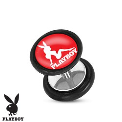 Faux piercing plug avec pin up playboy FAU253