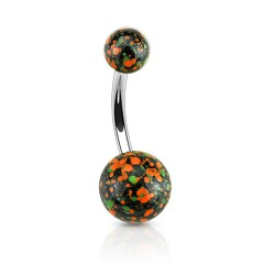 Piercing nombril boule acier multi taches orange Duz Piercing nombril4,49 €