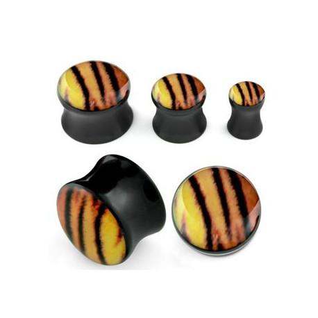 Piercing plug tigré 5mm Kachai PLU034