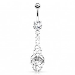 Piercing nombril avec zirconium ovale blanc Nol Piercing nombril6,65 €
