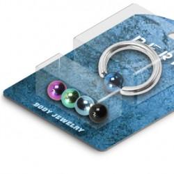 Pack piercings anneau 12 x 2,5mm et boules 6mm acier Apou