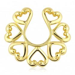 Faux piercing téton vintage doré Dyhu TET081