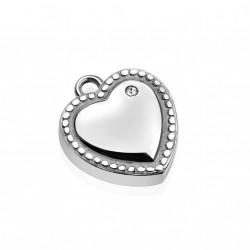 Pendentif coeur d'amour et zirconium blanc Vuft PEN078