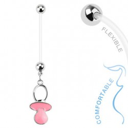 Piercing nombril grossesse tétine rose Tux Piercing nombril5,99 €