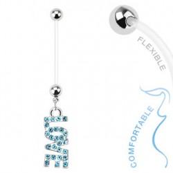 Piercing nombril grossesse love bleu Baty Piercing nombril5,99€