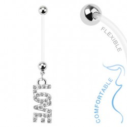 Piercing nombril grossesse love blanc Bady Piercing nombril5,99 €