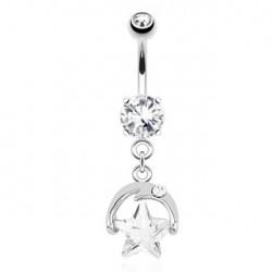 Piercing nombril étoile blanche en zirconium Tuz Piercing nombril6,90€