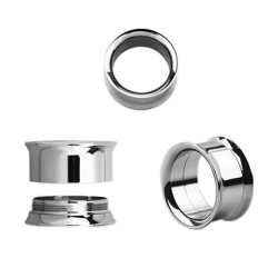 Piercing tunnel acier poli 4mm Sup PLU012