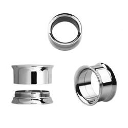 Piercing tunnel acier poli 18mm Ryda PLU012