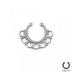 Faux piercing septum tribal métal Posa FAU272
