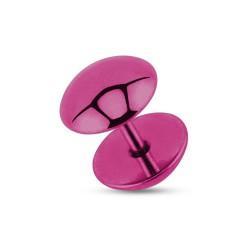 Faux piercing plug 8mm acier violet Wop