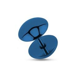 Faux piercing plug 8mm acier bleu foncé Cyt FAU277